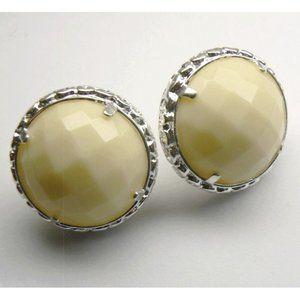 LARGE Sterling SILVER Agate Earrings RRP $150